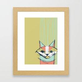 Cubist Cat Study #10 by Friztin Framed Art Print