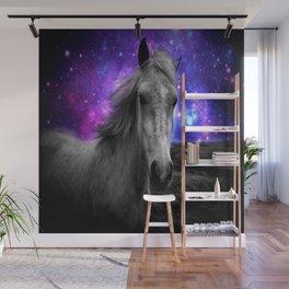 Horse Rides & Galaxy Skies Wall Mural
