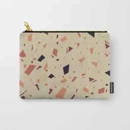 Dirt Terrazzo - Muted Earthy Tones - Abstract Marble Granite Speckle Pattern  Carry-All Pouch