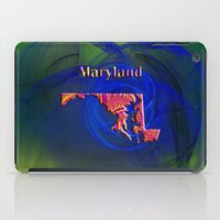 maryland iPad Cases featuring Maryland Map by Roger Wedegis