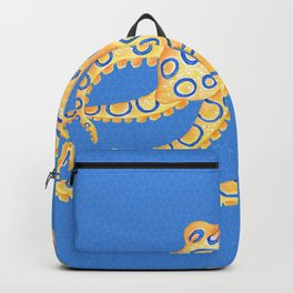 Blue Ring Octopus Backpack