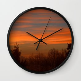 Shadows in the Morning Sky Wall Clock