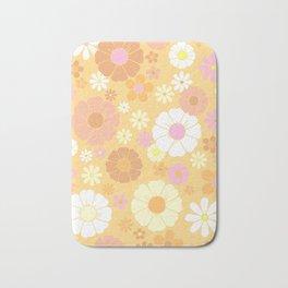 Groovy 60's Mod Pastel Flower Power Bath Mat