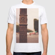 Paris details Mens Fitted Tee Ash Grey SMALL