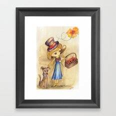 Flower Girl and her friend Framed Art Print