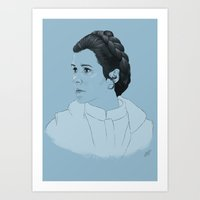 leia Art Prints featuring Leia by Susanah Grace