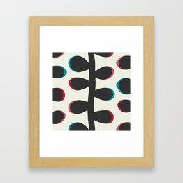 Like a Leaf [black] Framed Art Print