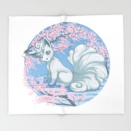 Alolan Vulpix Throw Blanket