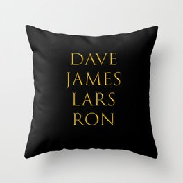 Bandmates X (Mtlca) Throw Pillow