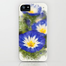 Watercolor Morning Glories iPhone Case