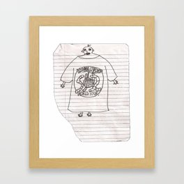 worm disco fan (artist interpretation)  Framed Art Print