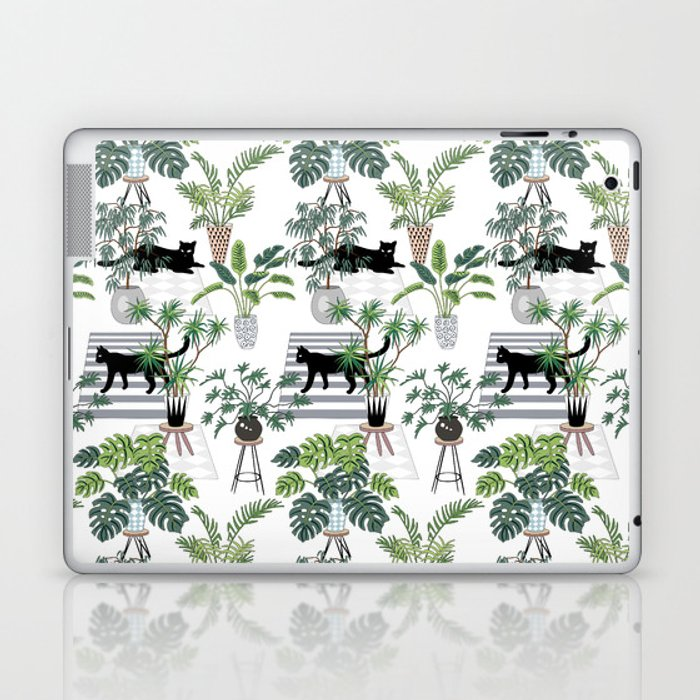 cats in the interior pattern Laptop & iPad Skin