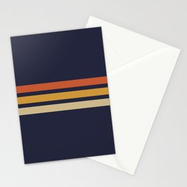 Vintage Retro Stripes Stationery Cards