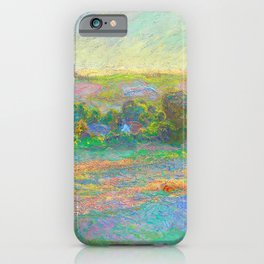 Stacks of Wheat End of Summer Painting Claude Monet French Impressionism Famous Art Oil On Canvas iPhone Case