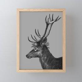 Cerf Couronné Framed Mini Art Print