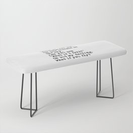 What if you fly? Vintage typewritten Bench