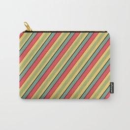 Oblique stripes retro Carry-All Pouch