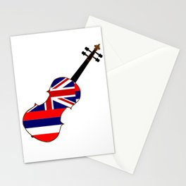 Hawaii State Fiddle Stationery Cards