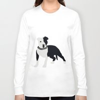 bull terrier Long Sleeve T-shirts featuring Staffordshire Bull Terrier by ialbert