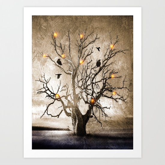 Raven christmas I - HOLIDAZE Art Print