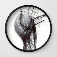 prometheus Wall Clocks featuring Natural being N.5 by Óscar S. Cesteros