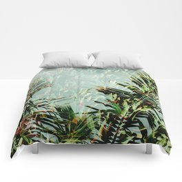 Palm Leaf Double Exposure Comforters