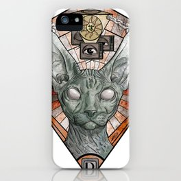 The Gaze of the Sphynx Cat - #1 Animal Hierarchy iPhone Case
