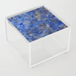 Blue mosaic tile abstract Acrylic Box