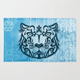 Tribal Graphic Design Illustration winter: Snow Leopard Rug