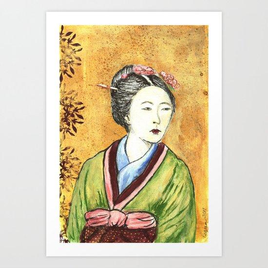 Japanese Woman Art Print