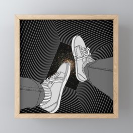 FALLING INTO THE SPACE Framed Mini Art Print