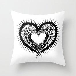 Bug Heart Throw Pillow