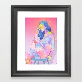Colorful nude girl Framed Art Print