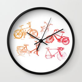 summer bikes Wall Clock