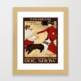 Vintage poster - Chicago Kennel Club's Dog Show Framed Art Print