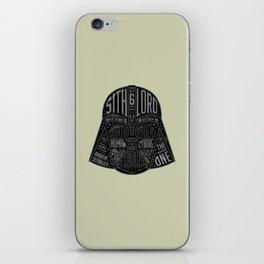 Darth Vader Helmet Typographic Design Chock full of trivia! iPhone Skin