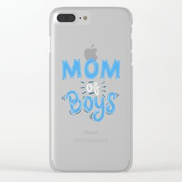 Mom of Boys. - Gift Clear iPhone Case