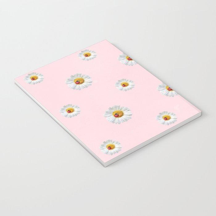 Flower Flowers Daisies in love- pink floral pattern Notebook
