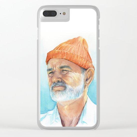 Bill Murray as Steve Zissou Portrait Art Clear iPhone Case