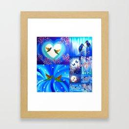 Blue designs Framed Art Print