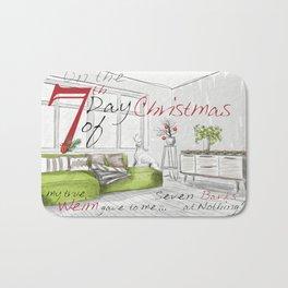 SEVENTH DAY OF CHRISTMAS WEIMS Bath Mat