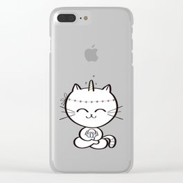 Lily Unicorn Kitty Clear iPhone Case