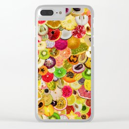Fruit Madness (All The Fruits) Clear iPhone Case