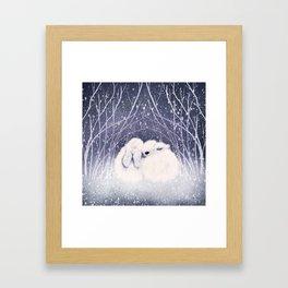 Winter Bunnies Framed Art Print