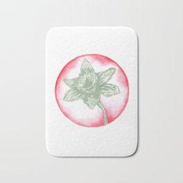 Daffodil Birth Flower - March - Teal Bath Mat