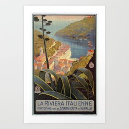 Portofino Italian Riviera Travel Art Print