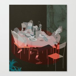 BLOOD UNDER THE TABLECLOTH Canvas Print