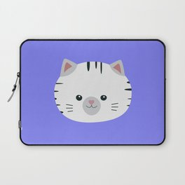 Black and White tiger cat Laptop Sleeve