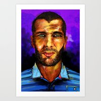 zidane Art Prints featuring Zinedine Zidane by Green Diablo