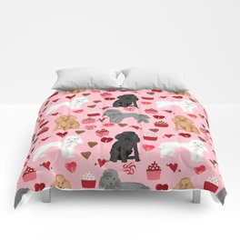 Toy Poodles mixed coat valentines day cupcakes love hearts dog breed gifts pet portraits must haves Comforters
